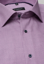 ETERNA HALF SLEEVE SHIRT COMFORT FIT ORCHID STRUCTURED