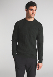 ETERNA KNIT SWEATER WITH ROUND NECK GREEN UNI