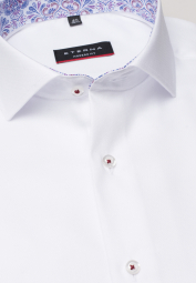 ETERNA LONG SLEEVE SHIRT MODERN FIT WHITE STRUCTURED