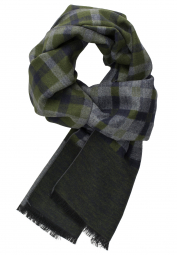 ETERNA SCARF OLIVE GREEN / GRAY CHECKED