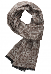ETERNA SCARF SAND / BROWN CHECKED