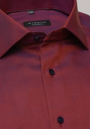 ETERNA LONG SLEEVE SHIRT COMFORT FIT RED STRUCTURED