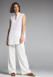WITHOUT SLEEVES BLOUSE 1863 BY ETERNA - PREMIUM WHITE UNI