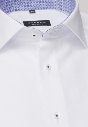 ETERNA HALF SLEEVE SHIRT COMFORT FIT WHITE STRUCTURED