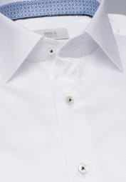 ETERNA LONG SLEEVE SHIRT SLIM FIT WHITE STRUCTURED