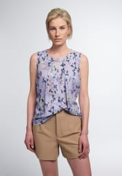ETERNA WITHOUT SLEEVES BLOUSE MODERN CLASSIC LILAC PRINTED