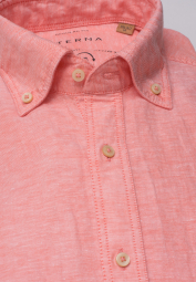ETERNA HALF SLEEVE SHIRT REGULAR FIT UPCYCLING SHIRT LINEN PEACH UNI