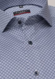 ETERNA LONG SLEEVE SHIRT MODERN FIT TWILL BLUE PRINTED