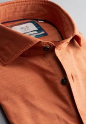 ETERNA LONG SLEEVE SHIRT SLIM FIT SOFT TAILORING TWILL ORANGE UNI