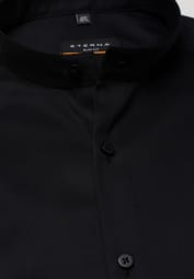 ETERNA LONG SLEEVE SHIRT SLIM FIT COVER SHIRT TWILL BLACK UNI