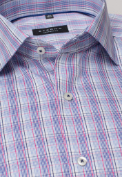 ETERNA LONG SLEEVE SHIRT COMFORT FIT LOTUS SHIRT TWILL PINK/ BLUE CHECKED
