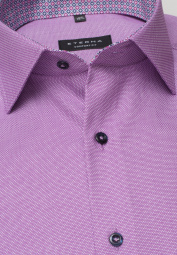 ETERNA LONG SLEEVE SHIRT COMFORT FIT STRUCTURE ORCHID STRUCTURED