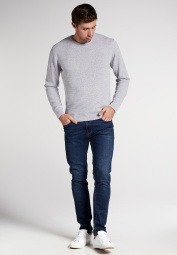 ETERNA KNIT SWEATER WITH ROUND NECK SILVER UNI