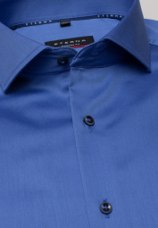 ETERNA LONG SLEEVE SHIRT MODERN FIT SATIN WEAVE ROYAL BLUE UNI