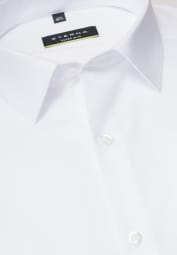 ETERNA LONG SLEEVE SHIRT SUPER-SLIM STRETCH WHITE STRUCTURED
